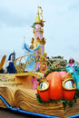 Disney magic on parade fairy tale characters in the at disneyland paris Royalty Free Stock Photos