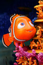 Disney pixar finding nemo character large figure of the little cute fish from movie Royalty Free Stock Images