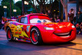 Disney pixar parade california adventure anaheim usa february cars lightning mcqueen in the at disneyland in anaheim Royalty Free Stock Photo