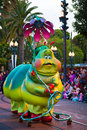 Disney pixar parade california adventure anaheim usa february caterpillar in the at disneyland in anaheim Stock Photos