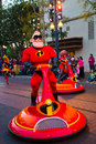 Disney pixar parade california adventure anaheim usa february the incredibles in the at disneyland in anaheim Stock Image