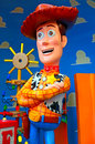 Disney pixar toy story character woody the famous cowboy from the popular animation movie by Stock Images