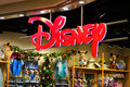 Disney store sign in a shopping italian mall november Stock Photography