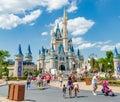 Disney world magic kingdom cinderella castle at orlando florida Stock Photography