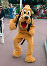 Disney world pluto dog character the at orlando florida is a popular tourist destination for people on holiday or vacation Stock Image