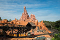 Disney world thunder mountain roller coaster the at in the magic kingdom orlando florida is a popular tourist destination for Stock Images