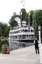 Disneyland the mark twain riverboat on the rivers of america california Stock Image
