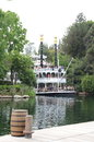 Disneyland the mark twain riverboat on the rivers of america california Stock Images