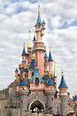 Disneyland paris castle sleeping beauty at eurodisney Stock Image