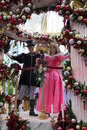 Disneyland princess aurora sleeping beauty with her prince on a christmas float at parade Royalty Free Stock Image