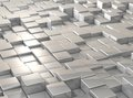 Disorderliness cubes are aligned in a grid surface is uneven Royalty Free Stock Image