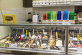Display of assorted italian ice creams Royalty Free Stock Photo