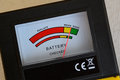 Display battery tester Royalty Free Stock Photo