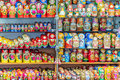Display of colorful russian dolls (matryoshkas) Royalty Free Stock Photo