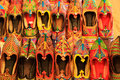 Display of colorful shoes, Mehrangarh Fort, Jodhpur, India Royalty Free Stock Photo