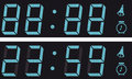 The display a digital clock. Royalty Free Stock Images