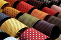Display with dotted ties Royalty Free Stock Photo