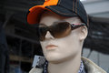 Display dummy with sunglasses and cap Royalty Free Stock Images
