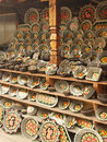 Display of hand made souvenirs russia Royalty Free Stock Photos