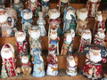 Display of hand made souvenirs russia Royalty Free Stock Image
