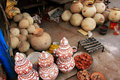 Display of pottery, Sadar Market, Jodhpur, India Royalty Free Stock Photo