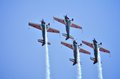 Display team aircraft looping Stock Photos