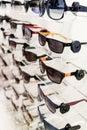 Display of various sunglasses Royalty Free Stock Photo