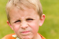 Displeased Young Boy Royalty Free Stock Photos