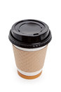 Disposable coffee cup with white background Stock Photography