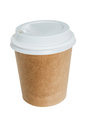 Disposable cup for coffee isolated