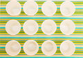 Disposable cups lots of on a colorful background Royalty Free Stock Photos