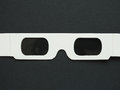 Disposable 3D glasses for movies Royalty Free Stock Photo