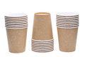 Disposable paper cup stack of isolated on white background Stock Photography
