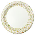 Disposable paper plate over white background Stock Images