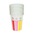 Disposable party dishware cups Royalty Free Stock Photography