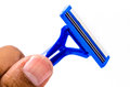 Disposable shaving razor.