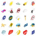 Disposition icons set, isometric style Royalty Free Stock Photo