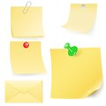 Disrupt envelope and post it collection vector illustration eps gradient meshes Stock Images