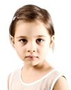 Dissapointed Little Girl Royalty Free Stock Photo