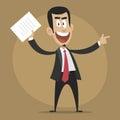 Dissatisfied boss dismisses employee illustration format eps Stock Photos