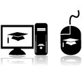Distance learning Stock Photo