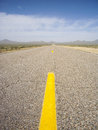 Distant horizon deserted extraterrestrial highway nevada usa Royalty Free Stock Photo