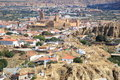 A distant view of Guadix, Spain Stock Photos