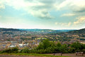 Distant view over bath a the town of Stock Image