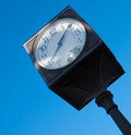 Distinctive clock welcomes visitors to camarillo s old town Royalty Free Stock Photography