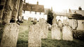Distored toned image graveyard uk Stock Image