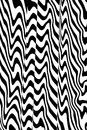 Distorted black and white lines abstract background of with a curved wave effect Stock Photo