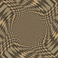 Distorted brown checkered background abstract pattern of color Royalty Free Stock Images
