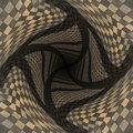 Distorted brown checkered background abstract pattern of color Stock Photography