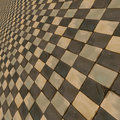 Distorted brown checkered background abstract pattern of color Stock Photos